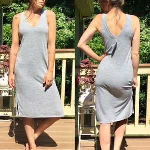 NWT Gap Sleeveless Dress V Neck in Front & Back